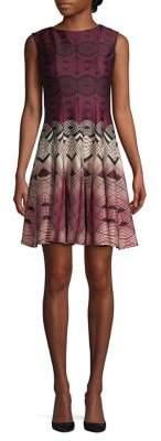 Gabby Skye Printed Fit-&-Flare Dress