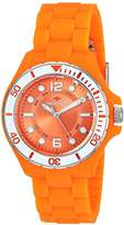 Seapro Women's 'Spring' Quartz Stainless Steel and Silicone Casual Watch, Color:Orange (Model: SP3218)