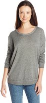 RVCA Juniors Label Dolman Burnout Pullover Fleece