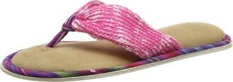 Dearfoams Women's Thong Open Back Slippers