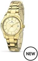 Accurist Champagne Dial Gold Tone Bracelet Ladies Watch