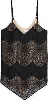 Alice + Olivia Alice Olivia - Emmeline Crepe And Crocheted Lace Camisole - Black