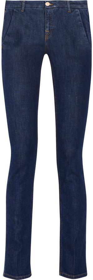 Victoria Beckham Denim Stovepipe mid-rise straight-leg jeans