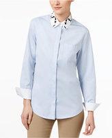 Max Mara Ginseng Cotton Embroidered Shirt