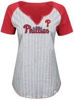 Majestic Women's Philadelphia Phillies From The Stretch Pinstripe T-Shirt