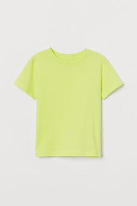 H&M Cotton T-shirt - Yellow