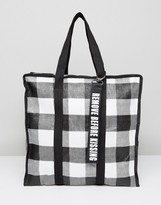 Pull&Bear Gingham Shoulder Bag