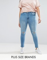 Koko Plus Skinny Jeans With Ripped Knee