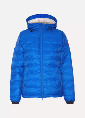 Canada Goose Camp Hooded Quilted Shell Down Jacket - Bright blue