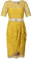 Marchesa lace cocktail dress - women - Polyester - 6