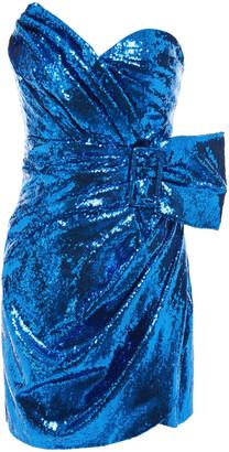 Dundas Strapless Sequined Tulle Mini Dress