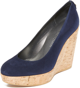 Stuart Weitzman Corkswoon Wedge Pumps