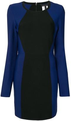BCBGMAXAZRIA Colour-Block Mini Dress