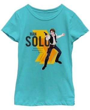 Fifth Sun Star Wars Big Girl's Galaxy of Adventures Han Solo Bold B1 Short Sleeve T-Shirt