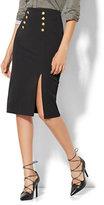 New York & Co. 7th Avenue Design Studio - Button-Accent Pencil Skirt