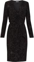Gina Bacconi Lonnie Metallic Wrap Dress