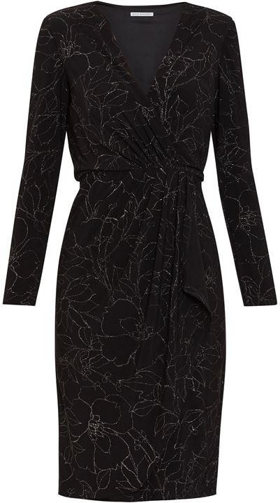 Thumbnail for your product : Gina Bacconi Lonnie Metallic Wrap Dress