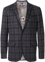 Etro check single breasted jacket - men - Cotton/Cupro/Wool - 48