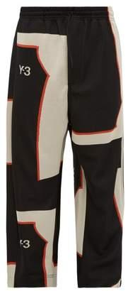 Y-3 Y 3 Logo-jacquard Track Pants - Mens - Black White