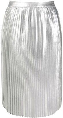 Calvin Klein Jeans Metallic Sheen Pleated Skirt
