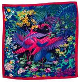 Hermes Flamingo Party Cashmere Silk Shawl