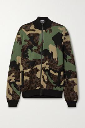 Moschino Jacquard-knit Wool Jacket - Army green