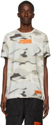 Heron Preston Multicolor Camouflage Style T-Shirt