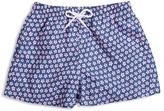 98 Coast Av Boys' Neon Daisy Print Swim Trunks - Sizes XS-L