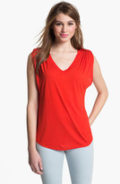 Vince Camuto Two by Shirred Shoulder Top