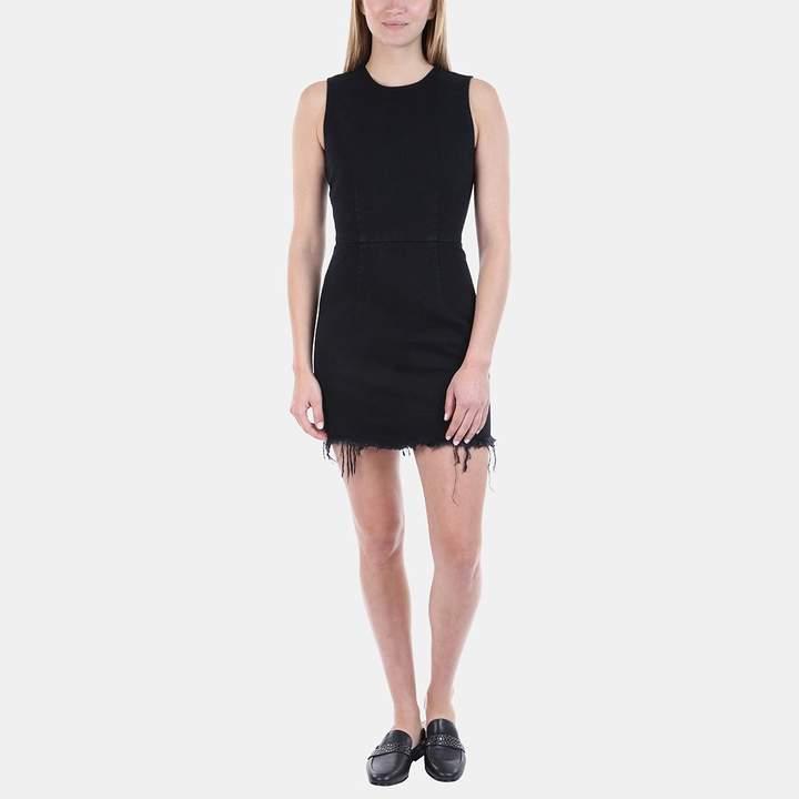 Alexander Wang Zip Sheath Dress in Black Fade