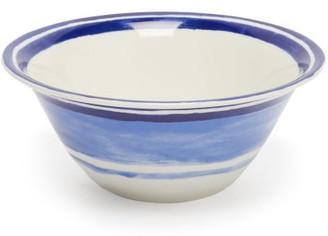 Themis Z - Maze Porcelain Salad Bowl - Blue Multi