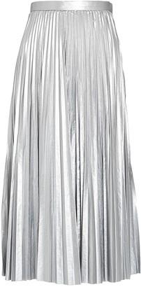 Tibi Pleated Metallic Midi Skirt