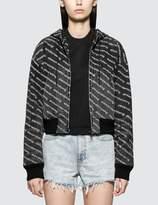 Alexander Wang Alexander Wang.T Hooded Logo Bomber Jacket