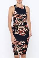 Iris Navy Floral Bodycon Dress