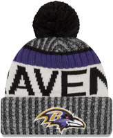 New Era Baltimore Ravens 2017 NFL Sideline On Field Sport Knit Hat - Purple