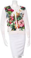 Dolce & Gabbana Silk Floral Jacquard Cardigan