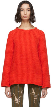 Eckhaus Latta Orange Referee Sweater