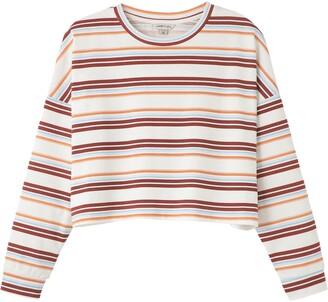 Habitual Sloane Stripe Oversize Crop Top