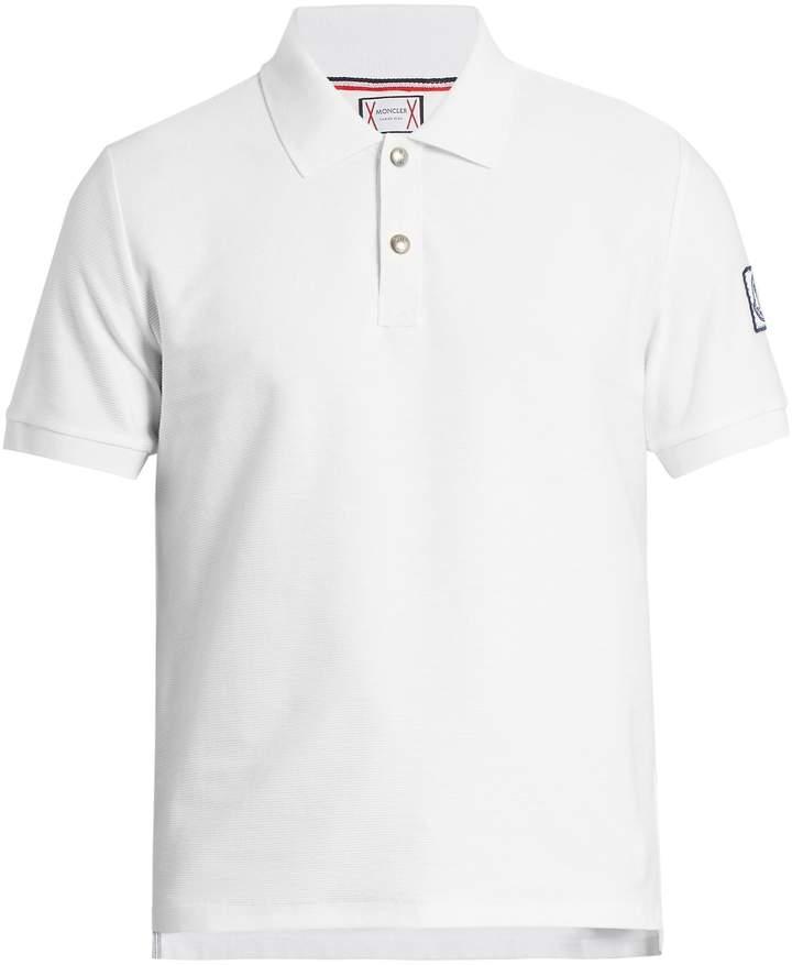Moncler Gamme Bleu Ribbed-cotton polo shirt