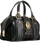 black GG canvas 'Aviatrix' medium boston bag