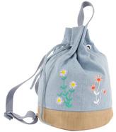 Stella McCartney Gardenia Embroidered Flower Backpack