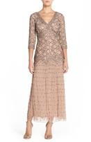 Pisarro Nights Petite Women's Beaded Mesh Dress