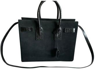 Saint Laurent Sac de Jour Black Suede Handbags