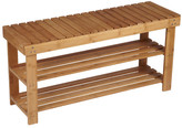 Household Essentials Bamboo Storage Entryway Bench