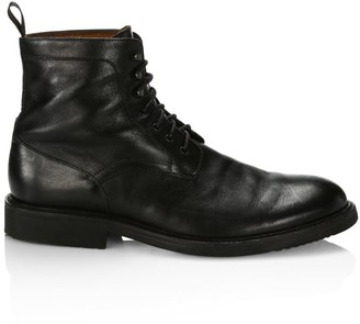 Saks Fifth Avenue COLLECTION Leather Ankle Combat Boots