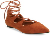 Callisto 'Rian' Ghillie Lace Pointy Toe Flat