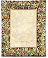 "Jay Strongwater Floral Ruffle-Edge 5"" x 7"" Frame"