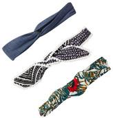 FINEST ACCESSORIES Denim Woodland Headwrap - Pack of 3