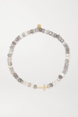 Sydney Evan 14-karat Gold, Silverite And Diamond Bracelet