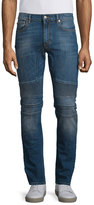 Belstaff Eastham Slim-Fit Washed Denim Jeans, Mid Blue